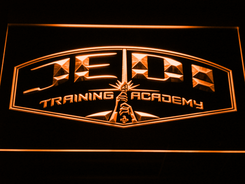 Image of Star Wars Jedi Training Academy LED Neon Sign - Orange - SafeSpecial