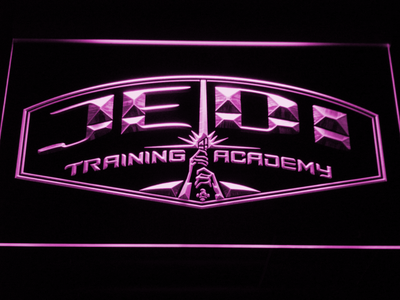Star Wars Jedi Training Academy LED Neon Sign - Purple - SafeSpecial