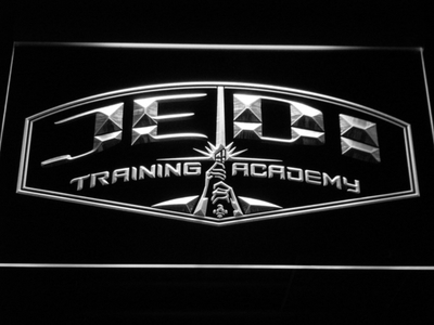 Star Wars Jedi Training Academy LED Neon Sign - White - SafeSpecial
