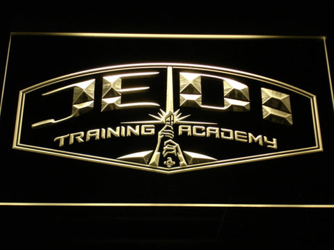 Image of Star Wars Jedi Training Academy LED Neon Sign - Yellow - SafeSpecial