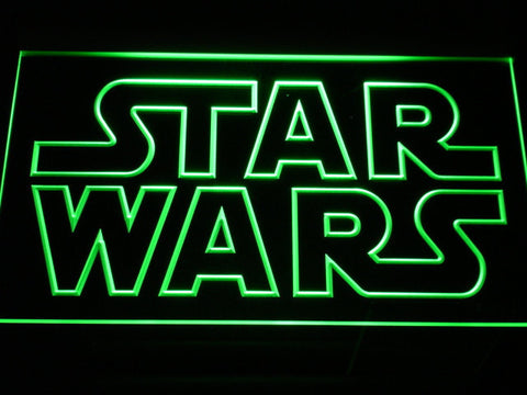 Image of Star Wars Outline LED Neon Sign - Green - SafeSpecial