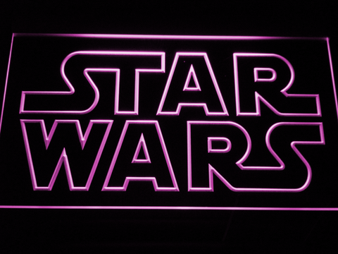 Image of Star Wars Outline LED Neon Sign - Purple - SafeSpecial