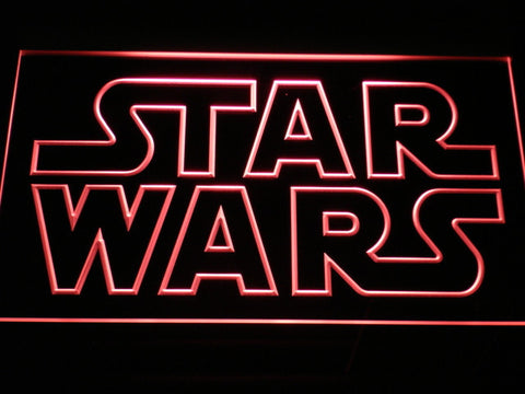 Image of Star Wars Outline LED Neon Sign - Red - SafeSpecial