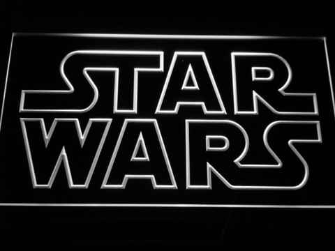 Image of Star Wars Outline LED Neon Sign - White - SafeSpecial