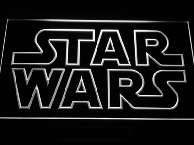 Star Wars Outline LED Neon Sign - White - SafeSpecial