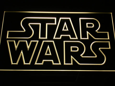 Image of Star Wars Outline LED Neon Sign - Yellow - SafeSpecial