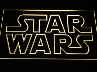 Star Wars Outline LED Neon Sign - Yellow - SafeSpecial