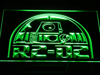 Star Wars R2-D2 Head LED Neon Sign - Green - SafeSpecial