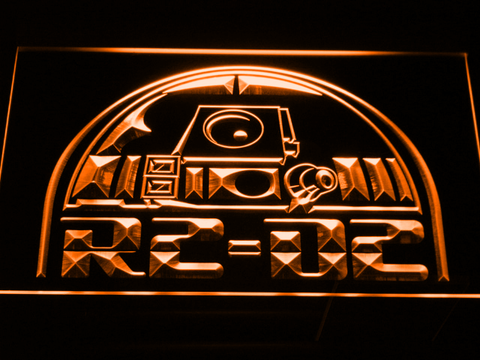 Image of Star Wars R2-D2 Head LED Neon Sign - Orange - SafeSpecial