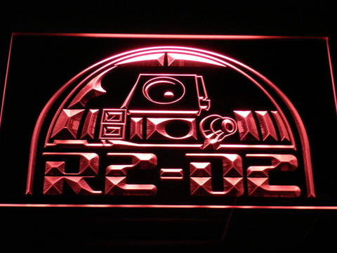 Image of Star Wars R2-D2 Head LED Neon Sign - Red - SafeSpecial