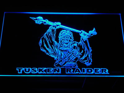 Star Wars Tusken Raider LED Neon Sign - Blue - SafeSpecial