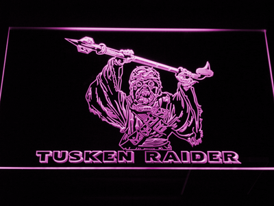 Star Wars Tusken Raider LED Neon Sign - Purple - SafeSpecial