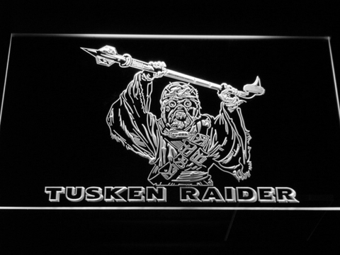 Star Wars Tusken Raider LED Neon Sign - White - SafeSpecial