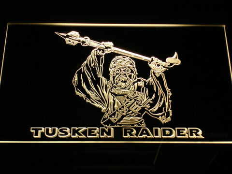 Star Wars Tusken Raider LED Neon Sign - Yellow - SafeSpecial