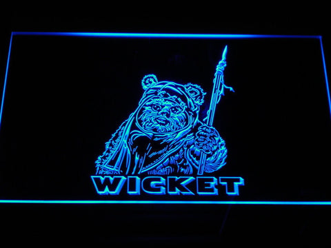 Image of Star Wars Wicket LED Neon Sign - Blue - SafeSpecial