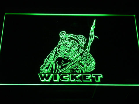 Image of Star Wars Wicket LED Neon Sign - Green - SafeSpecial