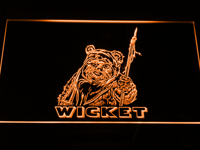 Star Wars Wicket LED Neon Sign - Orange - SafeSpecial