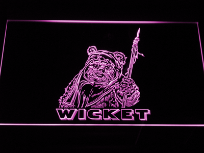 Star Wars Wicket LED Neon Sign - Purple - SafeSpecial