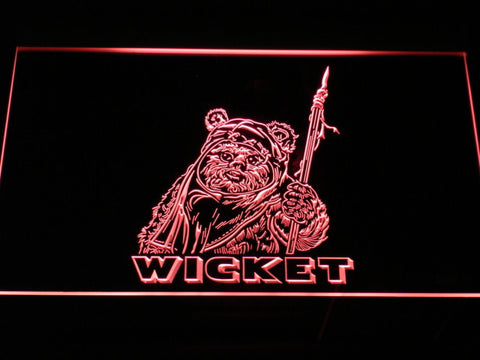 Image of Star Wars Wicket LED Neon Sign - Red - SafeSpecial