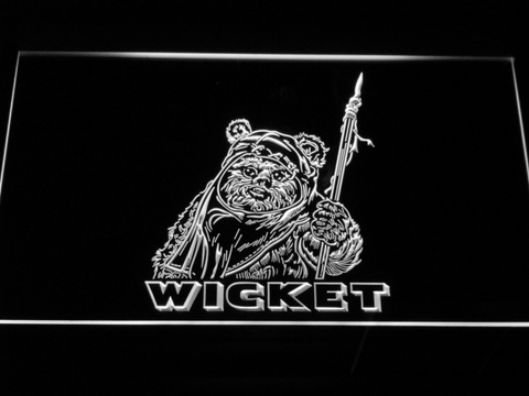 Image of Star Wars Wicket LED Neon Sign - White - SafeSpecial