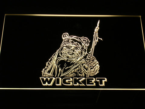 Image of Star Wars Wicket LED Neon Sign - Yellow - SafeSpecial