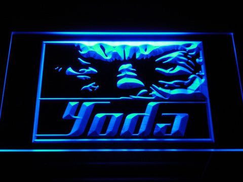 Image of Star Wars Yoda Eyes LED Neon Sign - Blue - SafeSpecial
