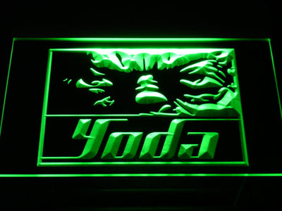 Star Wars Yoda Eyes LED Neon Sign - Green - SafeSpecial