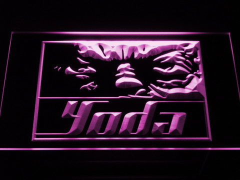 Star Wars Yoda Eyes LED Neon Sign - Purple - SafeSpecial