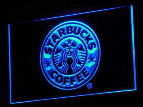 Image of Starbucks LED Neon Sign - Blue - SafeSpecial