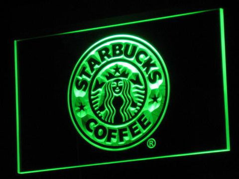 Image of Starbucks LED Neon Sign - Green - SafeSpecial