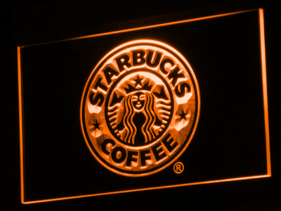 Starbucks LED Neon Sign - Orange - SafeSpecial