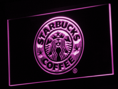 Image of Starbucks LED Neon Sign - Purple - SafeSpecial