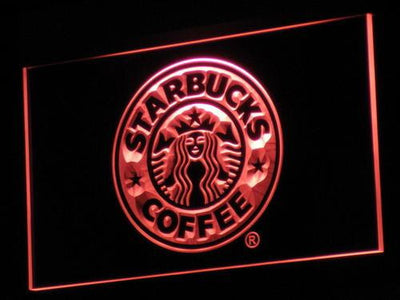 Starbucks LED Neon Sign - Red - SafeSpecial