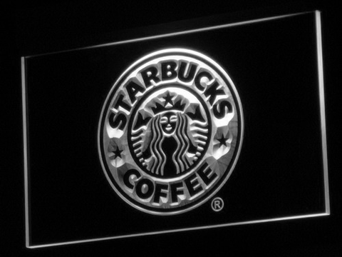 Starbucks LED Neon Sign - White - SafeSpecial