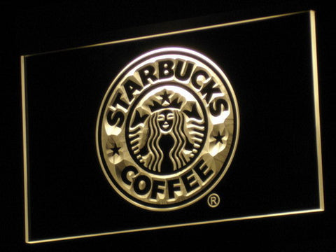 Image of Starbucks LED Neon Sign - Yellow - SafeSpecial