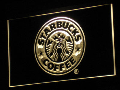 Starbucks LED Neon Sign - Yellow - SafeSpecial
