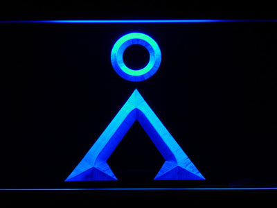 Stargate Earth Glyph LED Neon Sign - Blue - SafeSpecial