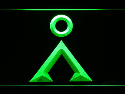 Stargate Earth Glyph LED Neon Sign - Green - SafeSpecial