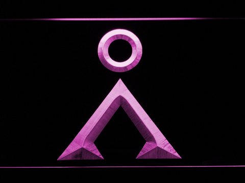 Image of Stargate Earth Glyph LED Neon Sign - Purple - SafeSpecial