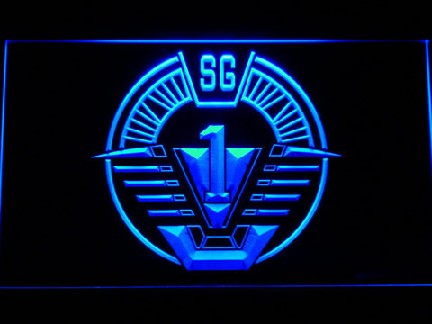 Image of Stargate SG-1 LED Neon Sign - Blue - SafeSpecial