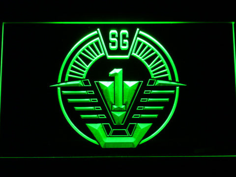 Image of Stargate SG-1 LED Neon Sign - Green - SafeSpecial