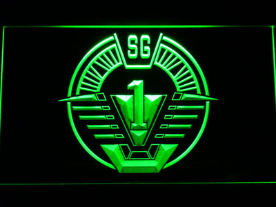 Stargate SG-1 LED Neon Sign - Green - SafeSpecial