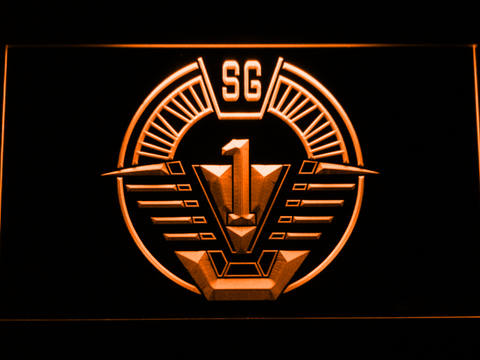 Image of Stargate SG-1 LED Neon Sign - Orange - SafeSpecial