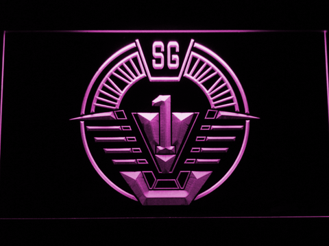 Image of Stargate SG-1 LED Neon Sign - Purple - SafeSpecial