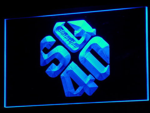 Status Quo LED Neon Sign - Blue - SafeSpecial