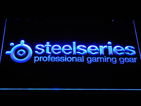 Image of SteelSeries LED Neon Sign - Blue - SafeSpecial