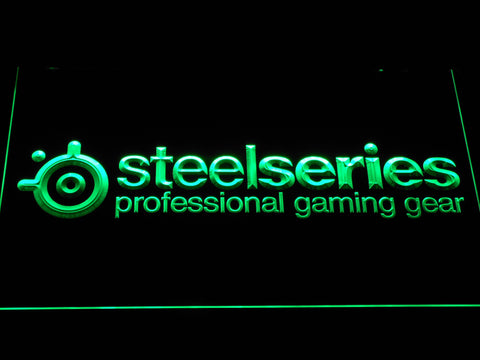 Image of SteelSeries LED Neon Sign - Green - SafeSpecial