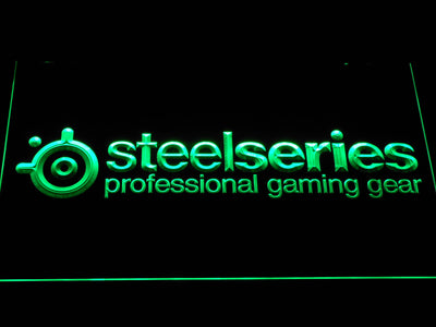 SteelSeries LED Neon Sign - Green - SafeSpecial