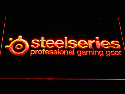 Image of SteelSeries LED Neon Sign - Orange - SafeSpecial