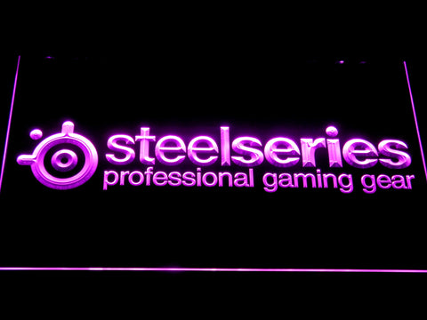 Image of SteelSeries LED Neon Sign - Purple - SafeSpecial